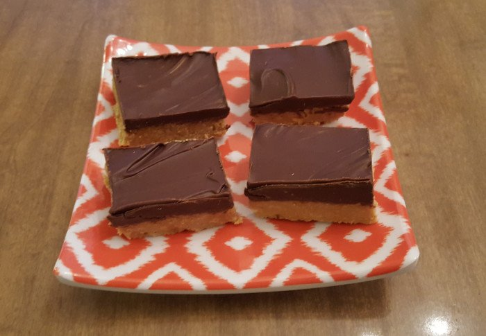No Bake Chocolate and Peanut Butter Bar Recipe