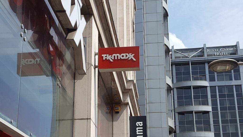 "On the way we noticed ""TK Maxx."" The British version of TJ Maxx?"