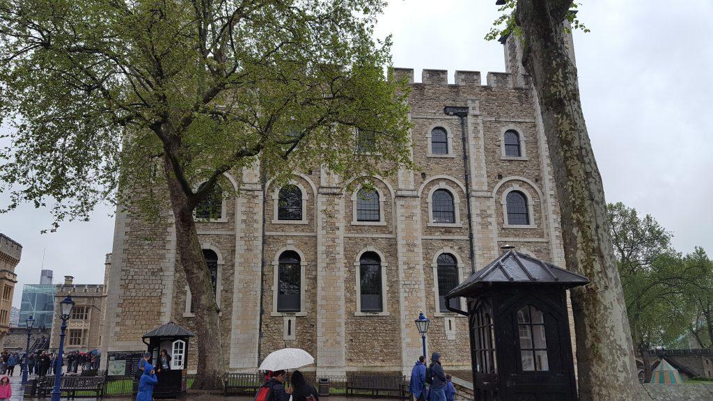 The White Tower - where Anne Boleyn was held prisoner